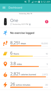 Fitbit stats March 19