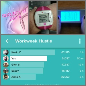 Almost...not really...beat my bro in our family Fitbit Workweek Hustle Challenge!